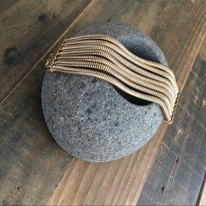 """Bauble Bar Multi Chain Gold Bracelet 7""""-8"""" EUC"""
